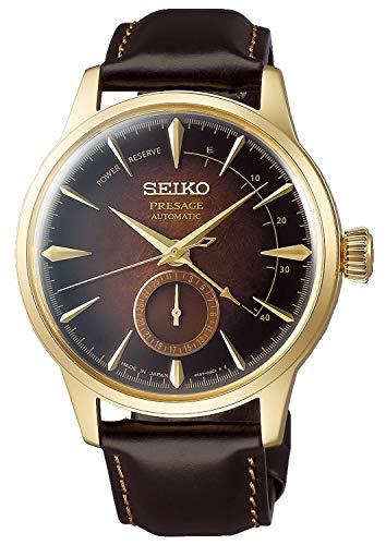 Seiko presage Mens Analogue Automatic Watch with Leather Bracelet SSA392J1