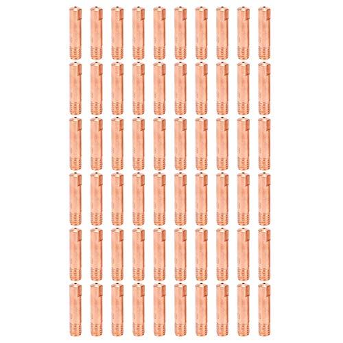60 piezas de soldadura MIG punta de contacto punta de contacto soldadura boquilla conductora de cobre para accesorios de soldadura MIG 15AH x 0,9