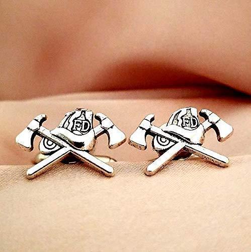 Firefighter Cross cuff links Direct store Cufflinks Lapel Translated tie Tie Pin Bar C