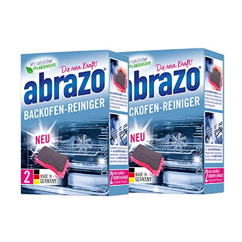 abrazo Backofen-Reiniger antibakteriell, Reinigungs-Schwamm Backöfen, Reinigungskissen für Küche, 2x2 verseifte Backofenreiniger (2)