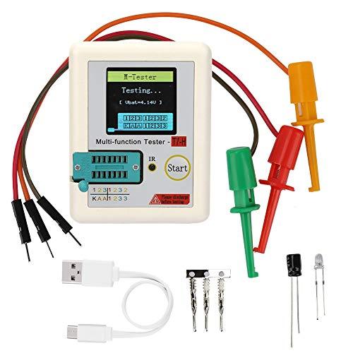 TC-T7-H TFT-Transistor-Tester,Grafikdisplay Multifunktionstest Transistor Tester Kondensator 25pF-100mF Widerstand 0,01-50MΩ