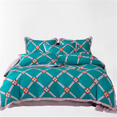 Ropa De Cama De Textiles para El Hogar Funda Nórdica Impresa Simple Suave Cómoda Y Fácil De Limpiar Juego De 4 Piezas 180x200+25cm