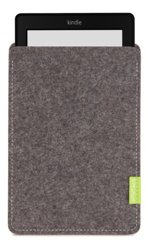 WildTech Sleeve für Kindle Paperwhite - 17 Farben (Handmade in Germany) - Grau