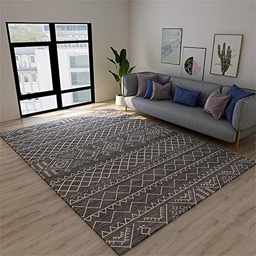 RUGMYW Fácil Eliminación De Polvo alfombras Infantiles Baratas Impresión Vintage Gris Blanco Alfombra Lisa 180X280cm