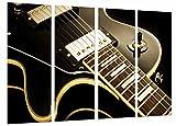 Cuadro Fotográfico Cuerdas de Guitarra, Decoracion Musical, Les Paul Tamaño total: 131 x 62 cm XXL