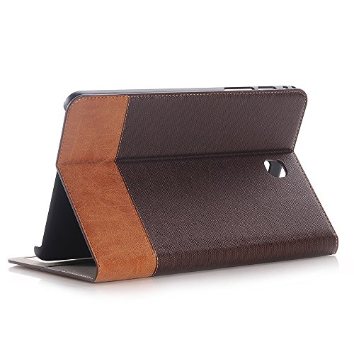 Hülle Galaxy Tab S2 8.0 2015 Model SM-T710 /T715/T713/T719, Tablethülle Schutzhülle PU Leder Klapphülle Hülle Cover Superdünne [Auto Schlaf/Aufwach] [Standfunktion] für Galaxy Tab S2 8.0 2015-Braun2