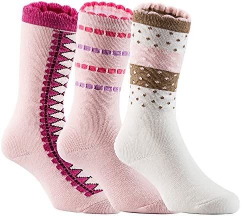 Lian LifeStyle Baby Girl s 3 Pairs Pack Knee High Cotton Non Skid Socks 6M 3Y One Size product image
