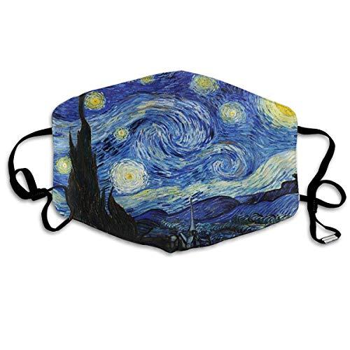 Mond Cover Starry Night Van Gogh Anti Dust Oor Loops Herbruikbare Wasbare Gezichtsbescherming Mond Sjaal