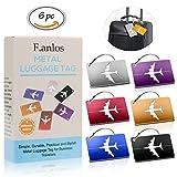 Kofferanhänger, Metallgepäckanhänger 6 Farben, Aluminium Gepäckanhänger,...