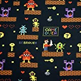 MAGAM-Stoffe Retro Games Baumwoll Sweat Stoff OEKO-Tex