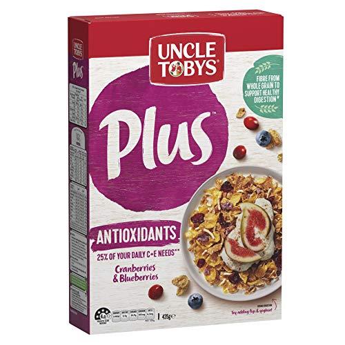 UNCLE TOBYS PLUS Antioxidant Breakfast Cereal, Cranberries & Blueberries 435g