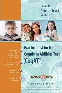 Cognitive Abilities Test CogAT® Multilevel D Book (Grade 5*) - Practice Test 1 (Form 6)