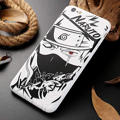 Naruto Sasuke Kakashi - Custodia per iPhone Xs Max XR Itachi Minato, in morbido silicone, per iPhone X XS XR 6 6S 7 8 Plus Luxury Cover (3, iPhone 8)