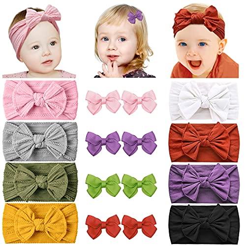 Huachi Baby Headbands Nylon Stretchy Hairbands...