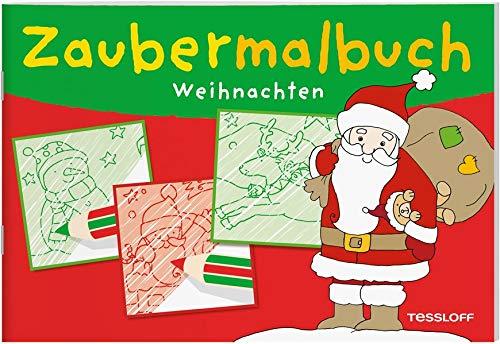 Zaubermalbuch Weihnachten: Ein magischer Spiel-Spaß ab 3 Jahren (Malbücher und -blöcke)