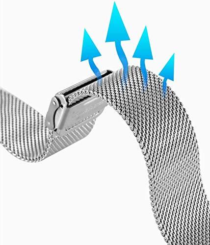 Uhrenarmband Verstellbares Edelstahlnetz Ersatz Uhrenarmband Atmungsaktiv Und Wasserdicht Schnellverschluss,20mm