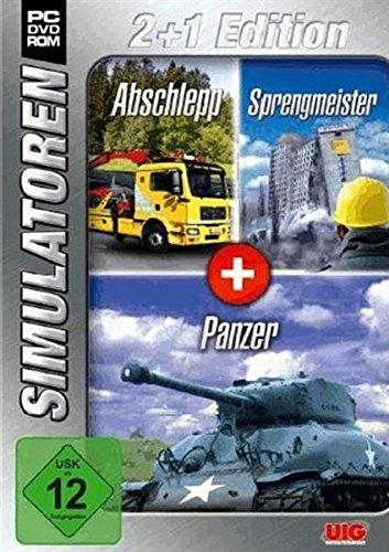 Simulator Bundel: Abschlepp, Sprengmeister, Panzer Sim 2+1 Red