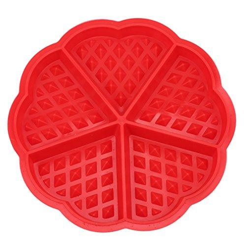 Lalang silicona gofres con forma de corazón Mini Pan Cake hornear Muffin Cake Chocolate Mold