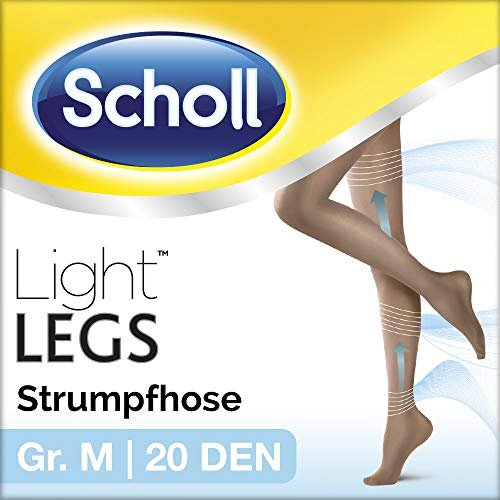 Scholl Light Legs Strumpfhose – Damen-Strumpfhose mit Kompressionsfunktion & Anti-Laufmaschen-Technologie in M – Transparente, schwarze Stützstrumpfhose – 1 Paar mit 20 DEN