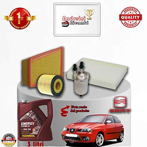 Tecneco Kit filtres + Huile Seat Ibiza IV 1.2 12 V 47 kW 64 cV depuis 2002 – > 2009