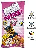 SkyBrands Paw Patrol Mädchen Handtuch Pink Rosa | Badetuch Kinder 75x150 cm Baumwolle/Mikrofaser Kinder-Strandlaken