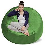 Sofa Sack - Plush Ultra Soft Bean Bags Chairs for Kids, Teens, Adults - Memory Foam Beanless Bag Chair with Microsuede Cover - Foam Filled Furniture for Dorm Room - Lime 5'