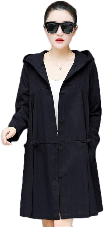 Women's windbreaker autumn new loose loose thin hooded jacket top