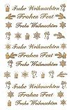 AVERY Zweckform Art. 52391 Aufkleber Weihnachten 44 Weihnachtssticker (Aufkleber, transparente...
