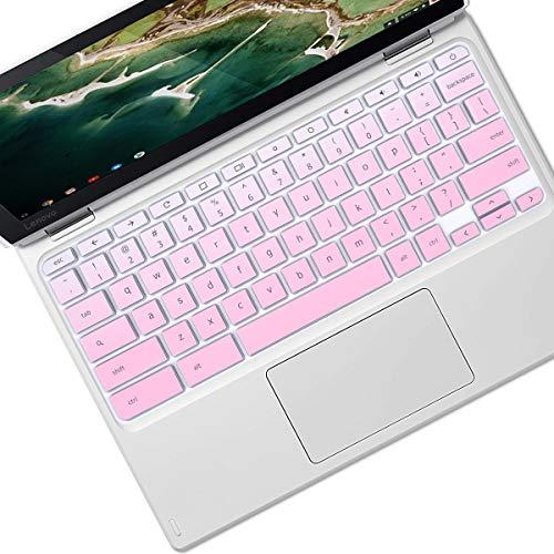 Keyboard Cover Skin Design for 2021 2020 Lenovo Chromebook Flex 3 2-in-1 11.6' |Lenovo Flex 11 Chromebook 11.6' |Lenovo Chromebook C330 N20 N21 N22 N23 100e 300e 500e 11.6' -Gradual Pink