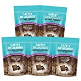 Safely Delicious 5 Pack Allergen-Free Dark Chocolate Bites (1oz.) All-Natural, Gluten-Free, Vegan Snack for Kids, NO Wheat, Dairy, Peanut, Tree Nuts, Soy, Egg, Fish, Shellfish, Sesame, Mustard