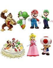 WELLXUNK® Super Mario speelgoed, Super Mario Brothers, Super Mario speelgoedfiguren, set Super Mario speelgoed, verzamelfiguren, Mario Bros actiefiguren Mario PVC speelgoedfiguren