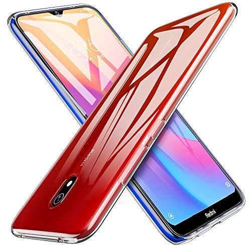 iBetter Morbido Slim TPU per Xiaomi Redmi 8A Cover,Antiurto Trasparente Silicone Custodia, per Xiaomi Redmi 8A Smartphone.Trasparente Trasparente