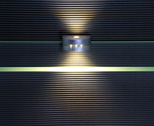 LED Glaskantenbeleuchtung / 4-er Komplettset / Glasbodenbeleuchtung / 2295-4 / Clip / Lichtfarbe warm weiß / Vitrinenbeleuchtung / Glasplattenbeleuchtung