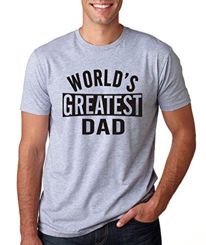 SignatureTshirts Men's Worlds Greatest Dad T-Shirt XL Sport Grey