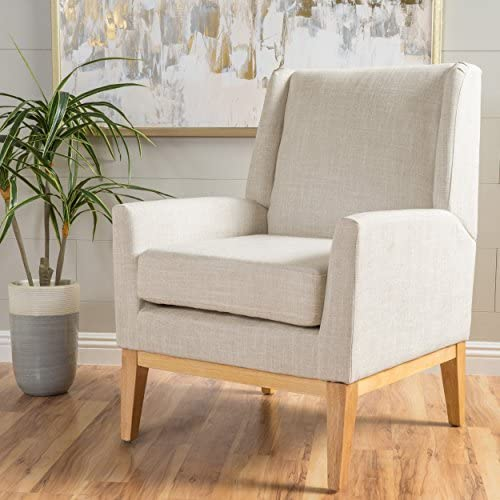 Best Christopher Knight Home Aurla Fabric Accent Chair, Beige