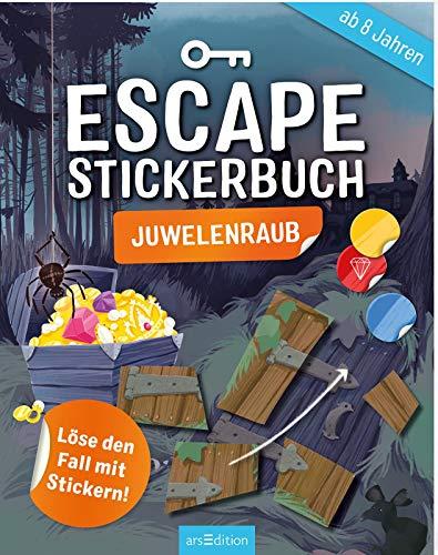 Escape-Stickerbuch - Juwelenraub: Löse den Fall mit Stickern! | Ein Escape-Heft mit Stickern für Kinder ab 8 Jahren