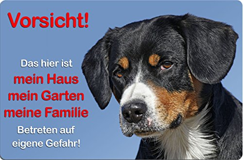 +++ APPENZELLER Sennenhund - Metall WARNSCHILD Schild Hundeschild Sign - AZS 06 T1