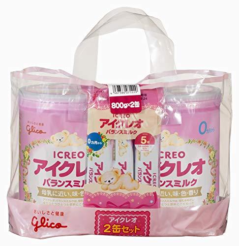 アイクレオ バランスミルク 800g×2缶セット(サンプル付き) 粉ミルク ベビー用【0ヵ月~1歳頃】