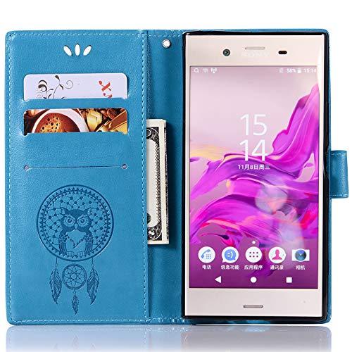 Capa de couro para Sony Xperia XZ1, capa carteira Sony Xperia XZ1, capa flip floral em couro PU com suporte para cartão de crédito para Sony Xperia XZ1 de 5,2 polegadas