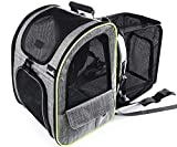 Pecute Cat Carrier Dog Backpack Expandable, Portable Breathable Rucksack with Front Opening-Mesh...