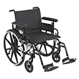 Drive Medical Viper Plus GT Wheelchair with Flip Back Removable Adjustable Full Arms Swing Away Footrests Seat, Black, 1 Count
