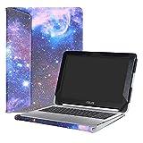 Alapmk Diseñado Especialmente La Funda Protectora de Cuero de PU Para 10.1' ASUS Chromebook Flip C100PA C101PA C101PA-FS002 Series Ordenador portátil,Galaxy