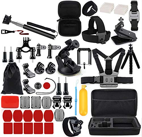 Accessori Action Cam. Kit 77 in 1 Logytix Compatibile con GoPro Hero 7/6/5/4/3 Nero - GoPro Hero 9/8 Max - Insta360 DJI AKASO APEMAN Campark Sony Xiaomi Action Camera