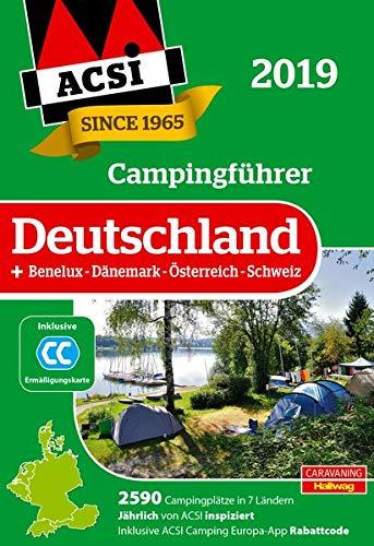 ACSI Campingführer Deutschland 2019: +Benelux-Dänemark-Österreich-Schweiz, 2590 Campingplätze (Hallwag Promobil)