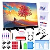 Ratukall A3 Light Pad for Diamond Painting,Diamond Art LED Light Board Kit, Portable Light Box for Tracing with 5D Painting Tools Set for Full Drill Diamond Painting