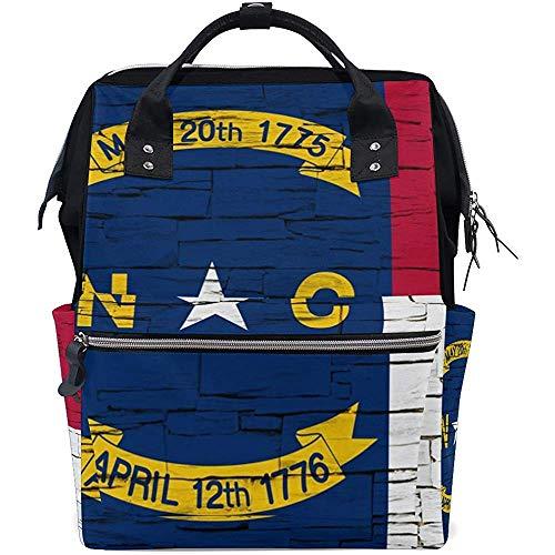 Travel Daypack,Mochilas Casuales De La Bolsa De Mamá De La Bandera del Estado De Carolina del Norte para Viajes Deportivos 40cm(H) x18(W) cm