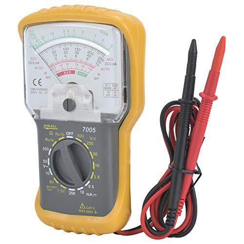 Comprobador de capacidad portátil termómetro, multímetro analógico, rango manual para ingeniería económica, para investigación científica y enseñanza