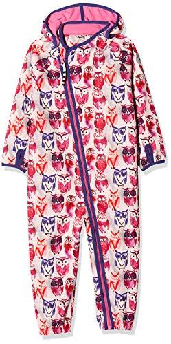 Racoon Baby-Mädchen Marie Softshelloverall (Wassersäule 5.000) Schneeanzug, Mehrfarbig (Ibis Rose IBO), 86