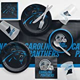 Creative Converting Carolina Panthers Game Day Party Supplies Kit, Serves 8