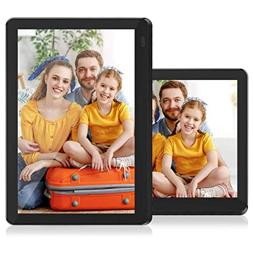 Atatat 8 Inch WiFi Digital Picture Frame with FHD 1920x1080 IPS Touch Screen, Auto-Rotate, Share Photos via Email, App, Portrait or Landscape